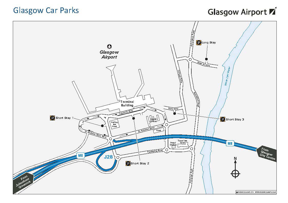 Glasgow Airport - map